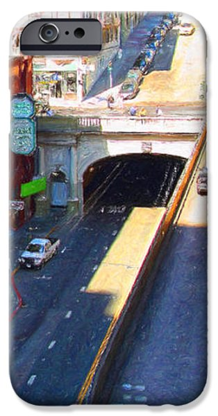 Stockton Street Tunnel in Heavy Shadow . Long Version iPhone Case by Wingsdomain Art and Photography