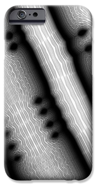 Stripes iPhone Cases - Stomata and Fugue - Abstract Art iPhone Case by Vic Eberly