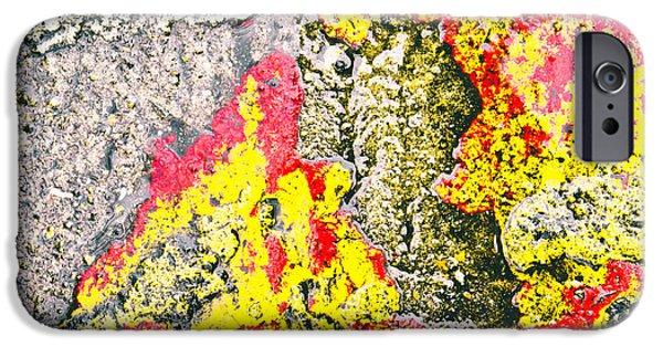 Asphalt iPhone Cases - Stone abstract iPhone Case by Tom Gowanlock