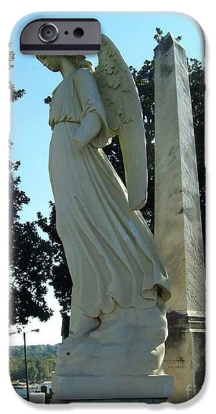 Cemetary iPhone Cases - Stone Angel iPhone Case by Charlotte Gray