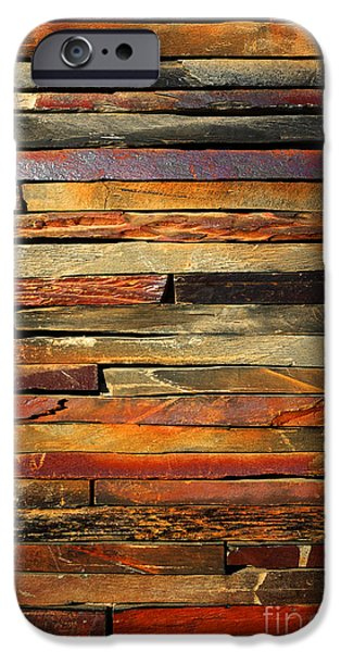 Backgrounds iPhone Cases - Stone Blades iPhone Case by Carlos Caetano