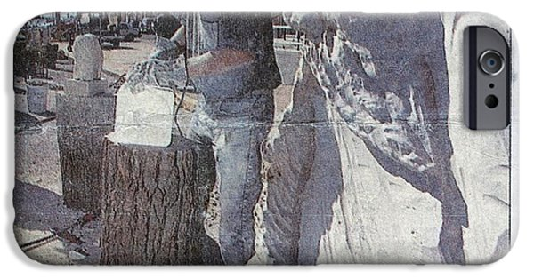 David Sculptures iPhone Cases - Stone Carve iPhone Case by News Photo
