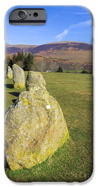 Religious iPhone Cases - Stone circle iPhone Case by Gillian Singleton