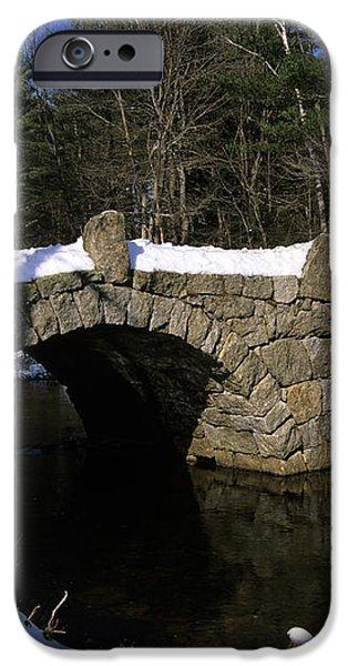 Stone Double Arched Bridge - Hillsborough New Hampshire USA iPhone Case by Erin Paul Donovan