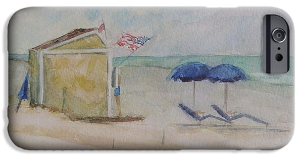 Jersey Shore Paintings iPhone Cases - Stone Harbor New Jersey Snack Shack iPhone Case by Patty Kay Hall