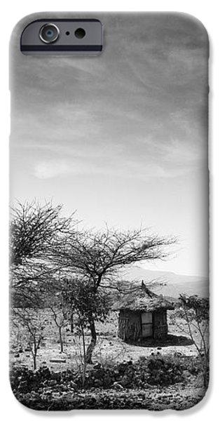 Stone Hut Set In Grassland Plains iPhone Case by David DuChemin