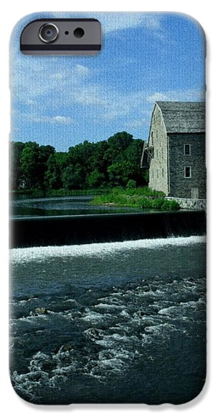 Buildings iPhone Cases - Stone Mill - Clinton New Jersey iPhone Case by Val Arie