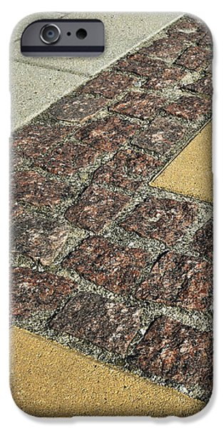 Red Rock iPhone Cases - Stone Pavement A Diverse iPhone Case by Jozef Jankola