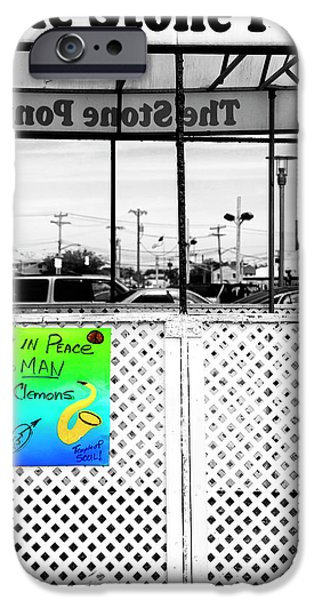 Asbury Park iPhone Cases - Stone Pony Memorial to the Big Man iPhone Case by John Rizzuto