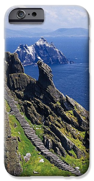 Recently Sold -  - Ruin iPhone Cases - Stone Stairway, Skellig Michael iPhone Case by Gareth McCormack