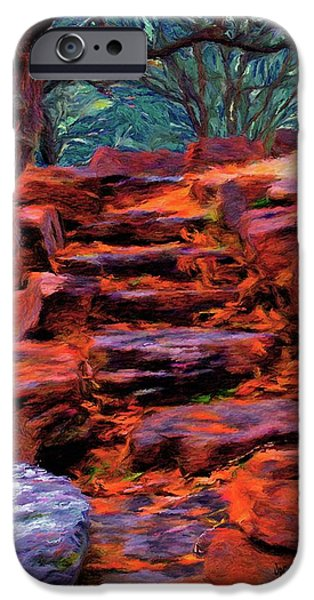 Stone Steps iPhone Cases - Stone Steps in Autumn iPhone Case by Jeff Kolker