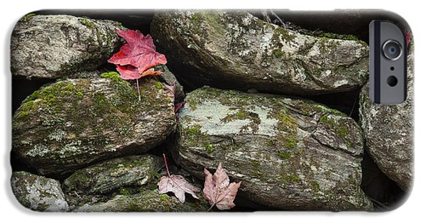 Fieldstone iPhone Cases - Stone Wall Autumn iPhone Case by John Greim