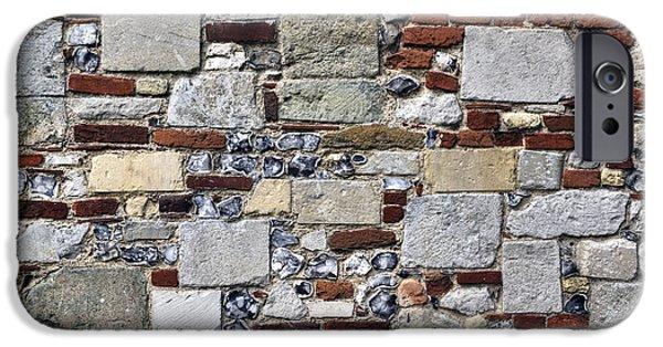 Facade iPhone Cases - Stone Wall iPhone Case by Joana Kruse
