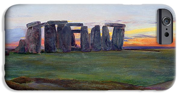 Pagan iPhone Cases - Stonehenge iPhone Case by John William Inchbold