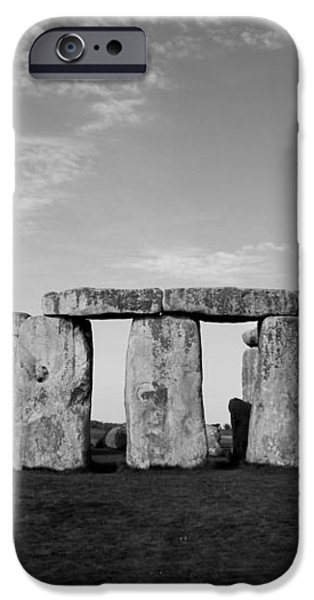 Stonehenge On a Clear Blue Day BW iPhone Case by Kamil Swiatek