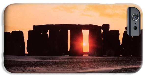Setting Sun iPhone Cases - Stonehenge Winter Solstice iPhone Case by English School