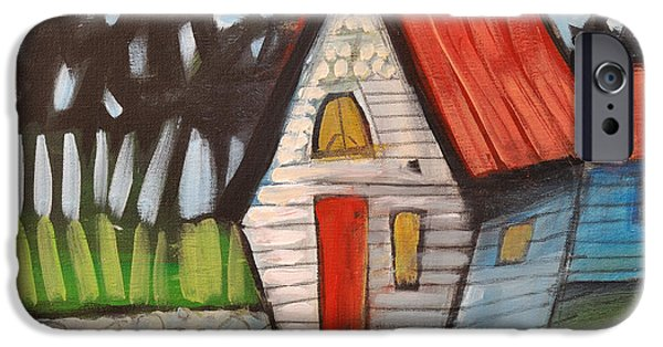 Stonewall Paintings iPhone Cases - Stonewall Cottage iPhone Case by Tim Nyberg