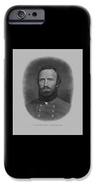 History Mixed Media iPhone Cases - Stonewall Jackson iPhone Case by War Is Hell Store