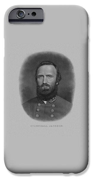 History iPhone Cases - Stonewall Jackson iPhone Case by War Is Hell Store