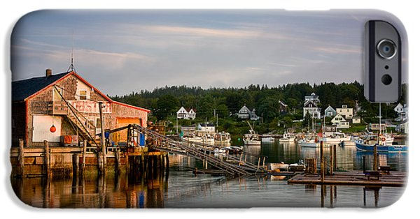 Lobster Shack iPhone Cases - Stonington Lobster Co-op iPhone Case by Susan Cole Kelly