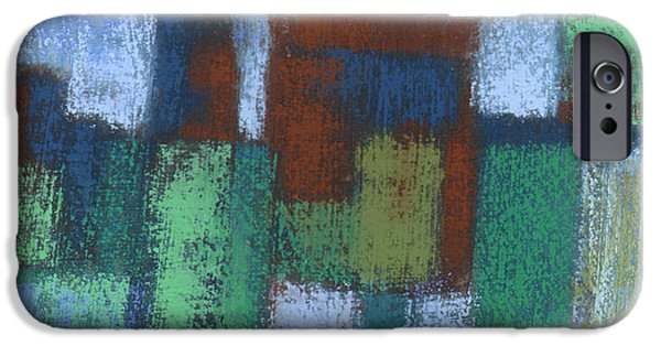 Abstractions Pastels iPhone Cases - Storefronts iPhone Case by Janine Aykens
