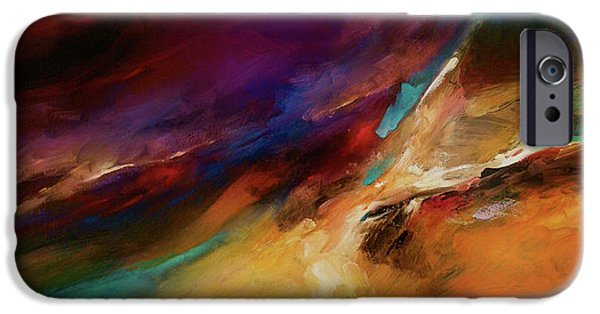 Recently Sold -  - Abstract Expressionist iPhone Cases - Storm at sea iPhone Case by Michael Lang