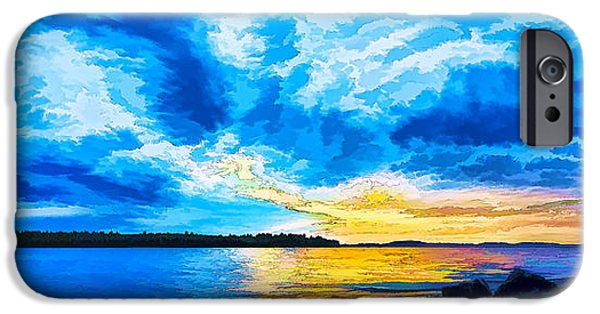 Recently Sold -  - Maine iPhone Cases - Storm Clouds at Sunset 1 - Painterly iPhone Case by Bill Caldwell -        ABeautifulSky Photography
