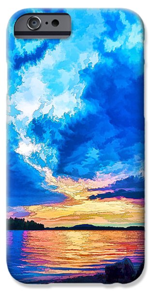 Storm iPhone Cases - Storm Clouds at Sunset 2 - Painterly iPhone Case by Bill Caldwell -        ABeautifulSky Photography