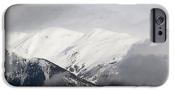 Fog Mist iPhone Cases - Storm Clouds on the Collegiate Peaks iPhone Case by Steve Krull