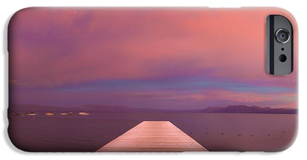 Lake Tahoe iPhone Cases - Storm of Passion iPhone Case by Jeremy Jensen