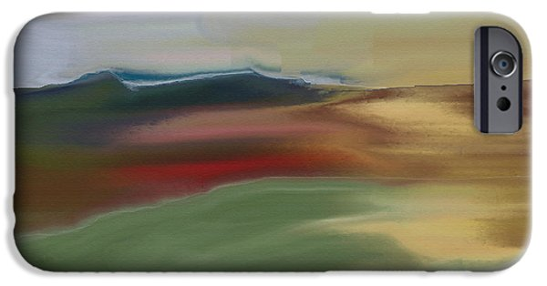 Abstract Expressionism iPhone Cases - Storm on the Mountains iPhone Case by Lenore Senior