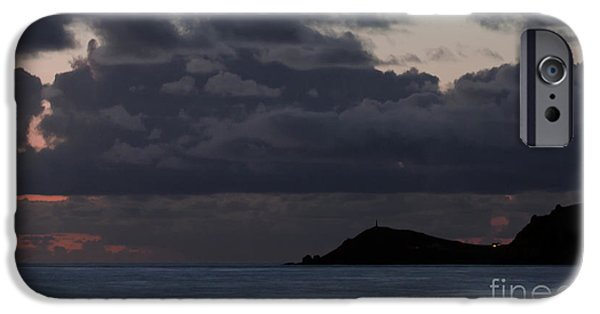 Storm iPhone Cases - Storm Over Cape Cornwall iPhone Case by Terri  Waters