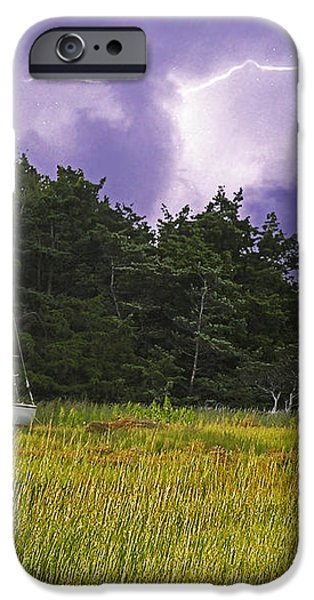 Storm Over Knott's Island iPhone Case by Charles Harden