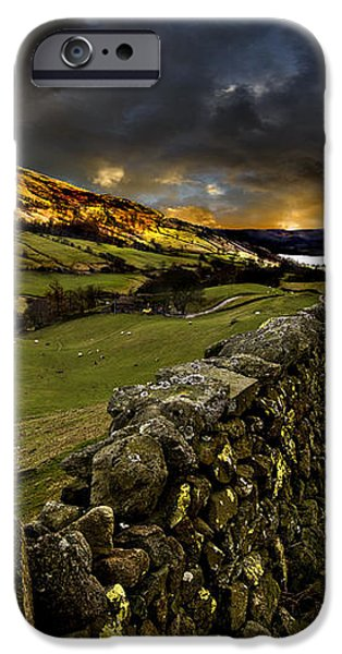 storm over windermere iPhone Case by Meirion Matthias