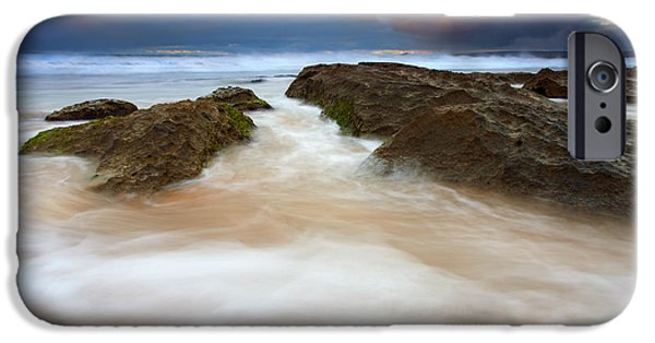 Beach iPhone Cases - Storm Shadow iPhone Case by Mike  Dawson