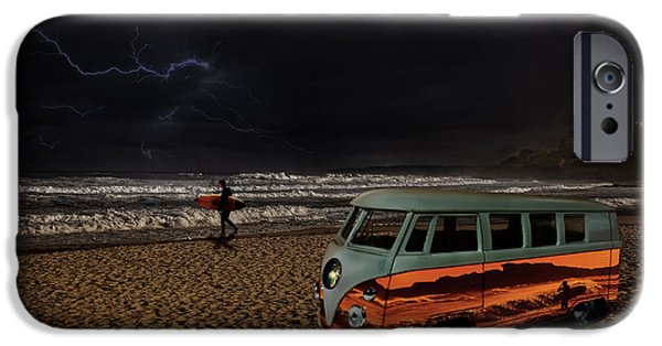 Electrical iPhone Cases - Storm Surf iPhone Case by Markus P