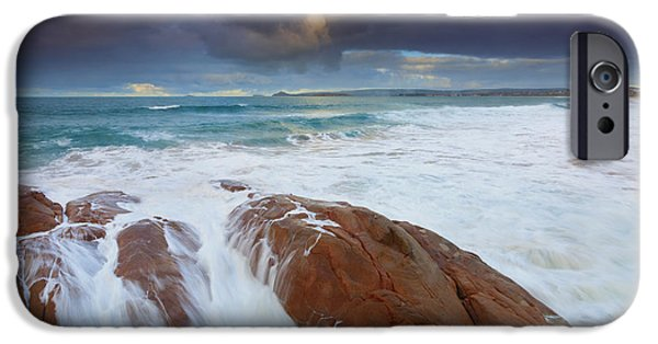 Knights Beach iPhone Cases - Storm Tides iPhone Case by Mike Dawson