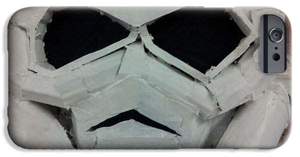 Storm Sculptures iPhone Cases - Storm Trooper iPhone Case by William Douglas