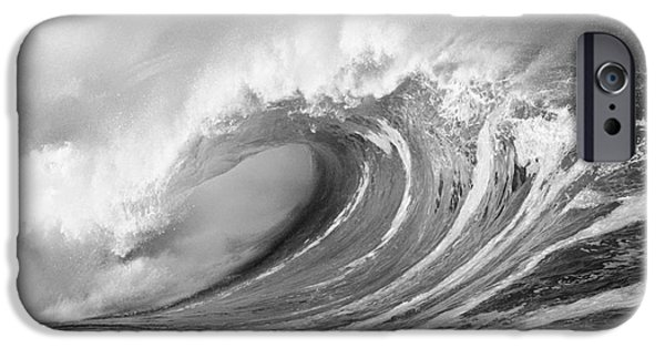 Turbulent Skies iPhone Cases - Storm Wave - BW iPhone Case by Ron Dahlquist - Printscapes