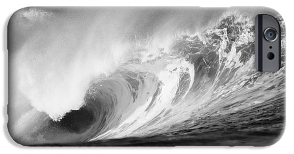 Turbulent Skies iPhone Cases - Storm Wave - BW iPhone Case by Vince Cavataio - Printscapes
