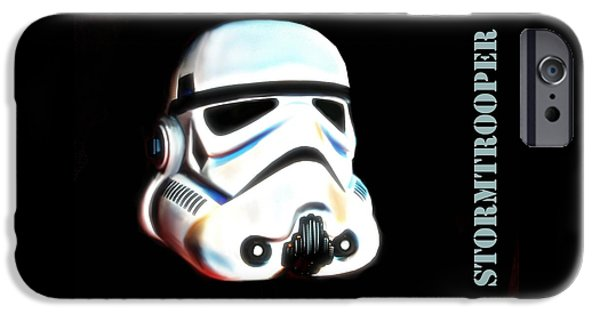 War iPhone Cases - StormTrooper Head iPhone Case by HQ Photo