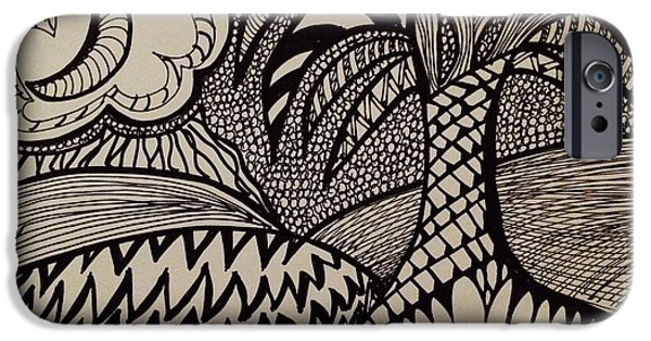 Storm iPhone Cases - Stormy Beach iPhone Case by Julie Slowinski