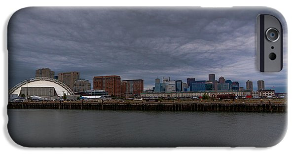 Boston Ma iPhone Cases - Stormy Boston iPhone Case by Brian MacLean