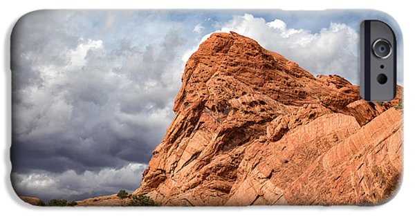 Pines iPhone Cases - Stormy Desert Afternoon iPhone Case by Kathleen Bishop