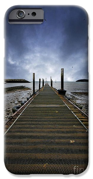 Netting iPhone Cases - Stormy Jetty iPhone Case by Meirion Matthias
