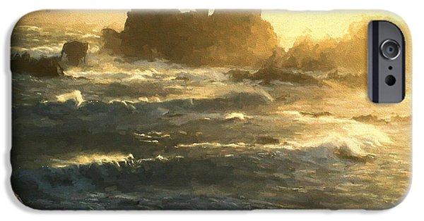 iPhone Cases - Stormy Seas - La Corbiere - Jersey Channel Islands iPhone Case by TN Fairey