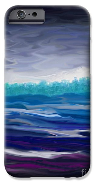 Abstract Seascape iPhone Cases - Stormy Seascape iPhone Case by Annie Zeno
