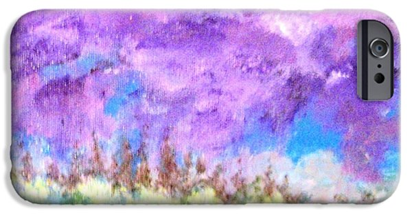 Free Form Paintings iPhone Cases - Stormy Sky iPhone Case by Jamie Frier