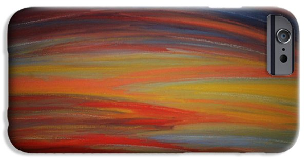 Organic Pastels iPhone Cases - Stormy Sunrise iPhone Case by Dorneisha Batson
