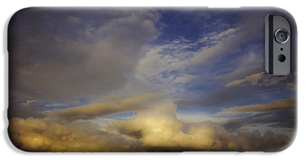 Storm iPhone Cases - Stormy Sunset iPhone Case by Toni Hopper